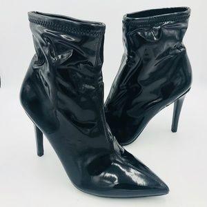 JESSICA SIMPSON Black Spike High Heel Fashion Boot